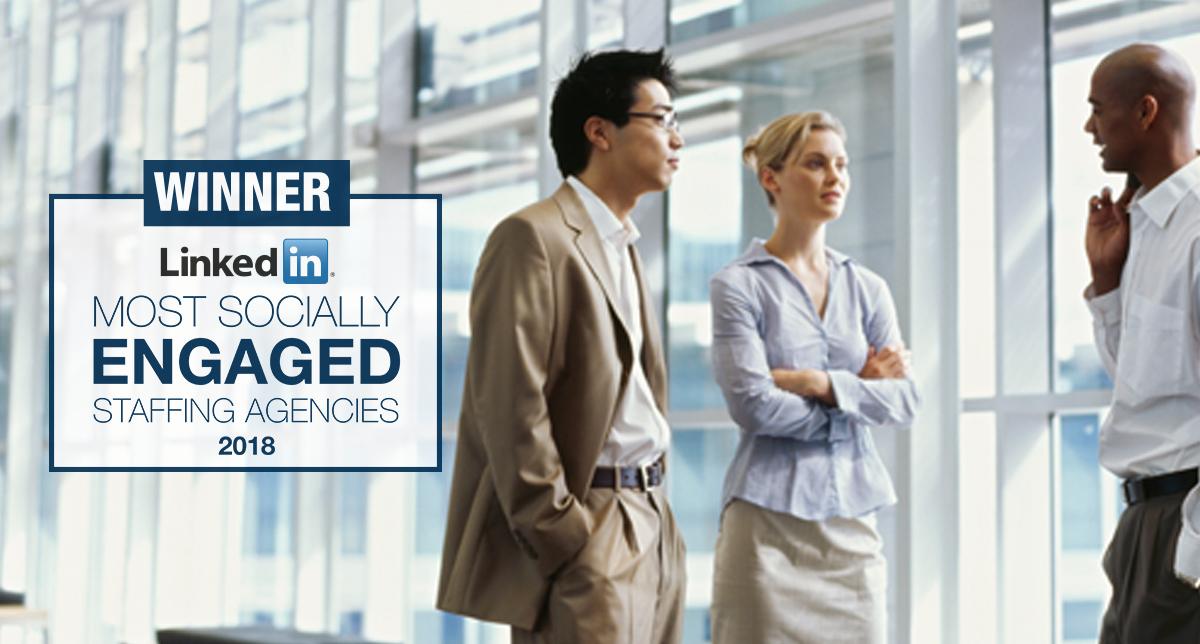 LinkedIn Most Socially Engaged Company 2018